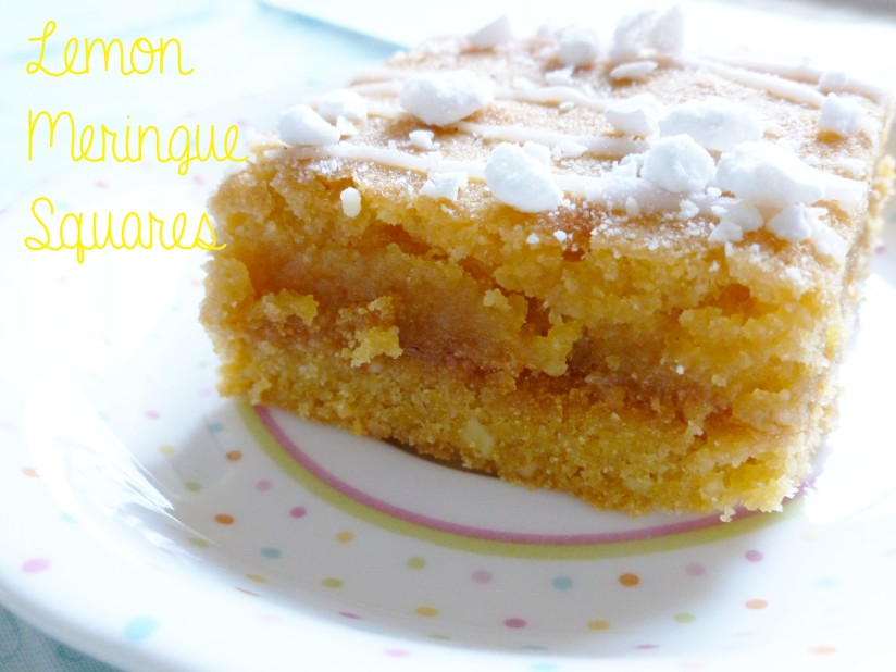 lemon meringue squares