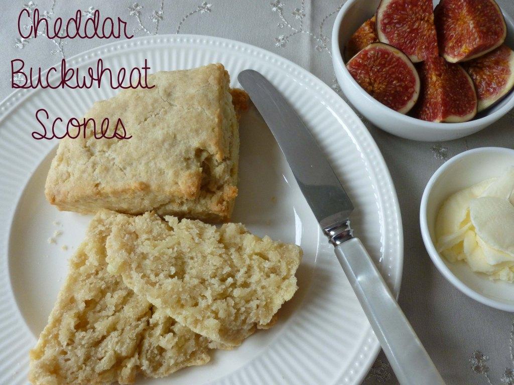 cheddar buckwheat scones