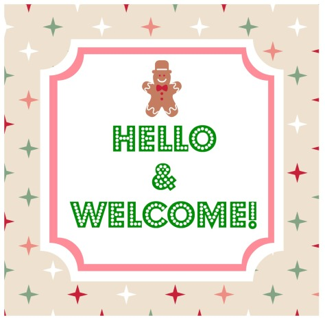Hello and welcome sign