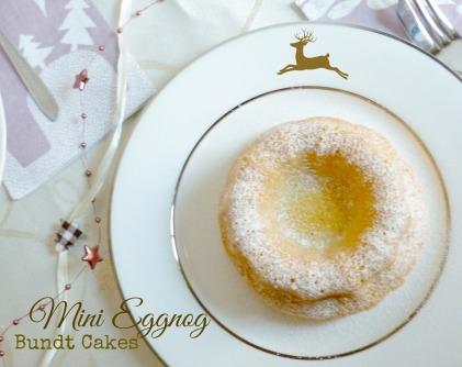 Mini Eggnog Bundt Cakes