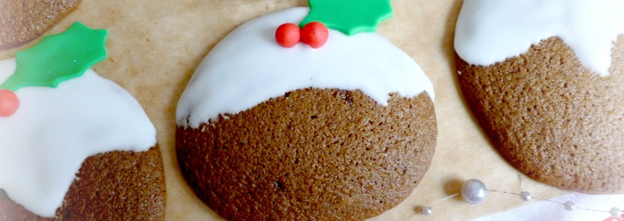 Soft Gingerbread Christmas Pudding Cookies The Pink Rose Bakery