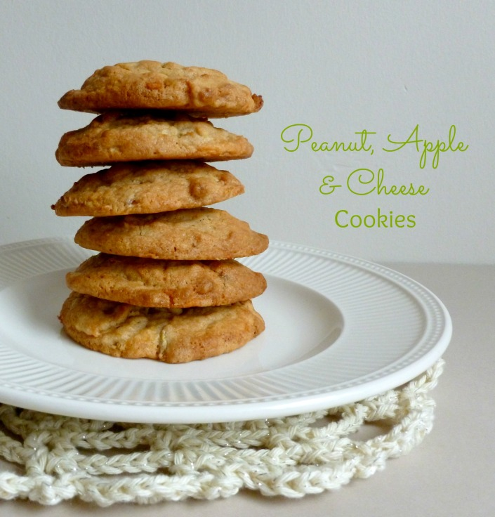peanut, apple & cheese cookies