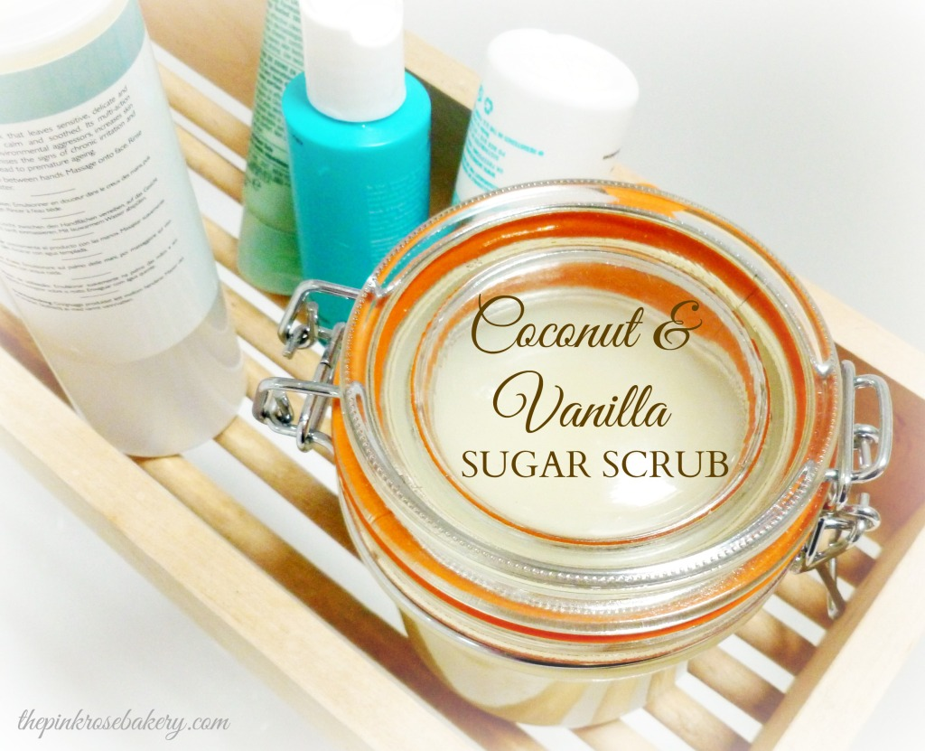 Coconut & Vanilla Sugar Scrub Main - The Pink Rose Bakery