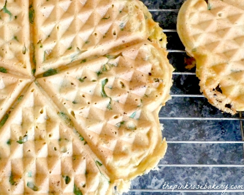 Heart Shaped Waffles - The Pink Rose Bakery