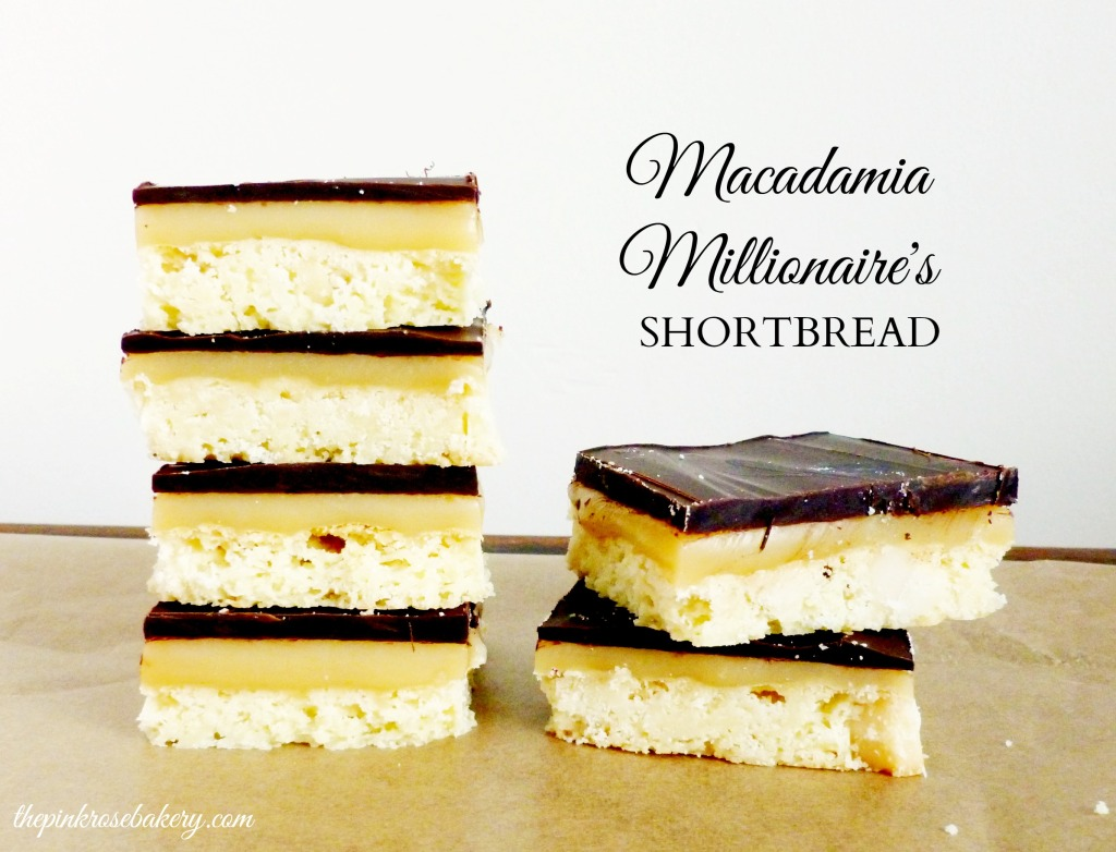 Macadamia Millionaire's Shortbread main - The Pink Rose Bakery