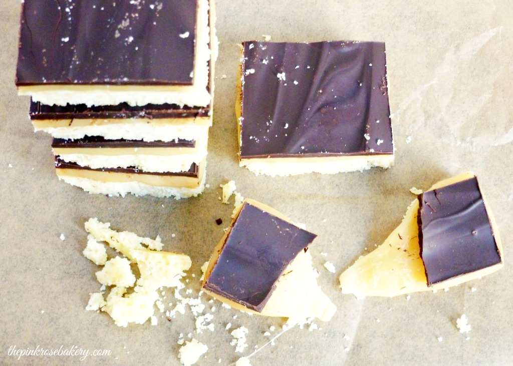 Macademia Millionaire's Shortbread 2 - The Pink Rose Bakery