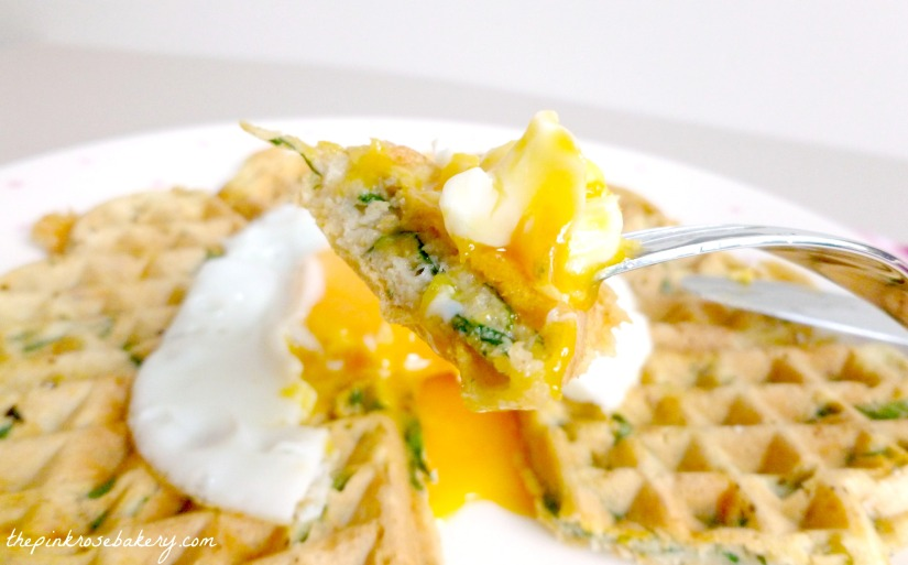 Spinach, Cheddar & Sweet Potato Waffle 3 - The Pink Rose Bakery