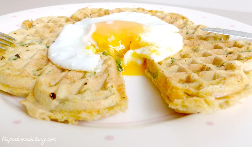Spinach, Cheddar & Sweet Potato Waffles 2 - The Pink Rose Bakery