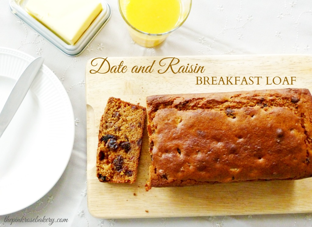 Date & Raisin Breakfast Loaf Main - The Pink Rose Bakery
