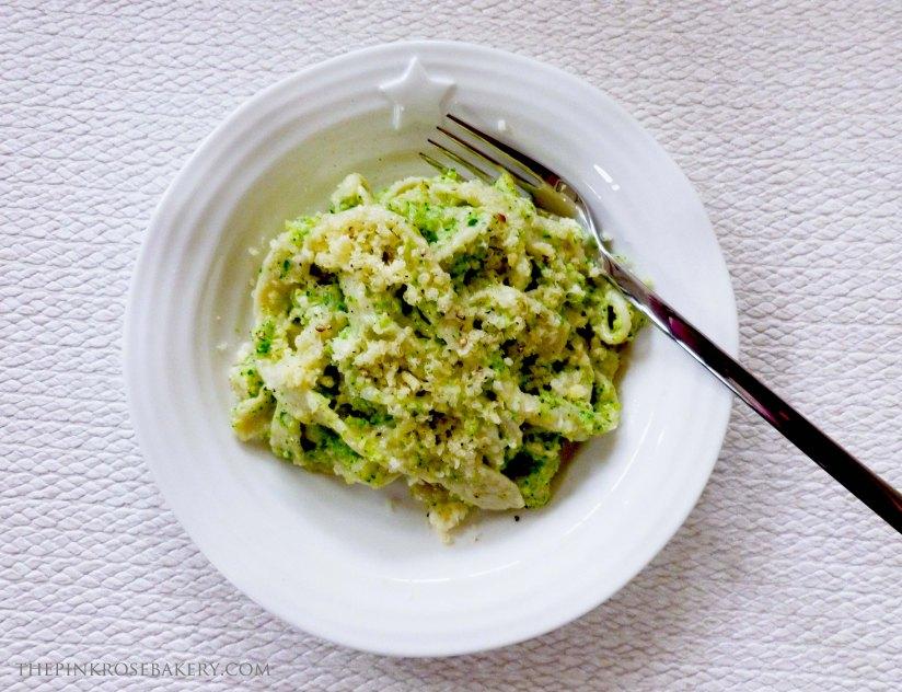 Broccoli Pesto Pasta - The Pink Rose Bakery