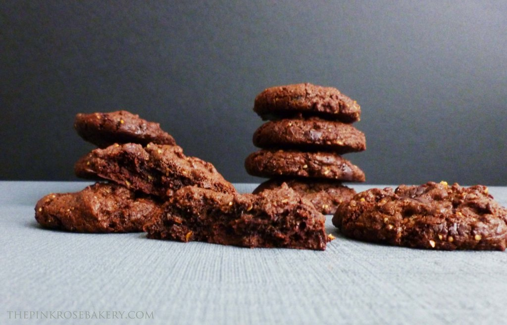Double Chocolate Cookies 2 - The Pink Rose Bakery