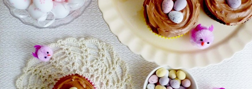 Easter Chocolate Nest Cupcakes - gluten free | the pink rose bakery