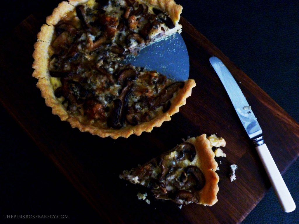 Mushroom & Blue Cheese Tart 1 - The Pink Rose Bakery