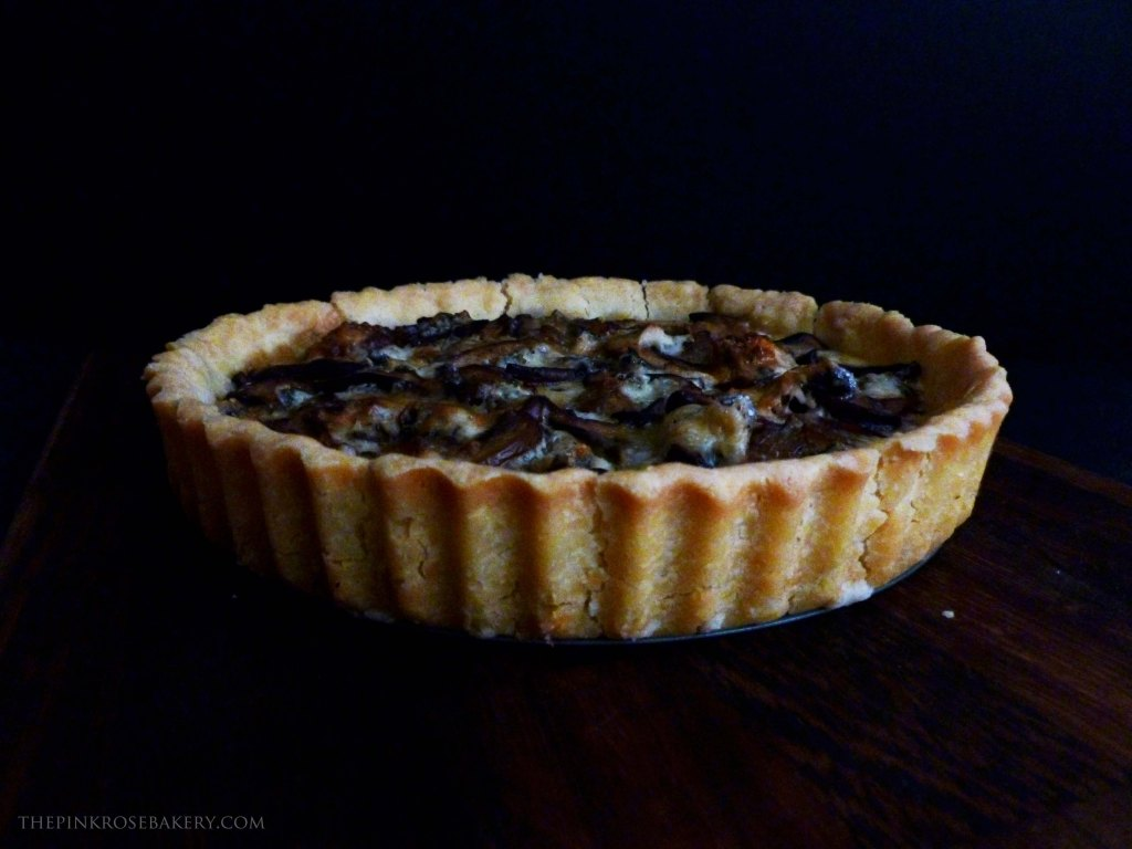 Mushroom & Blue Cheese Tart 5 - The Pink Rose Bakery