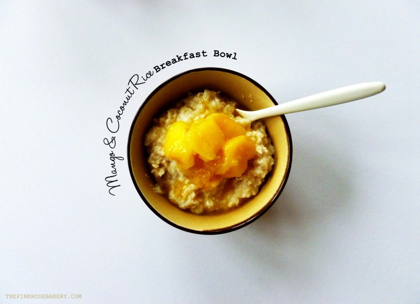 Mango & Coconut Rice Breakfast Bowl 1 - The Pink Rose Bakery