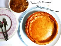 Rhubarb & Vanilla Cheesecake 1 - The Pink Rose Bakery