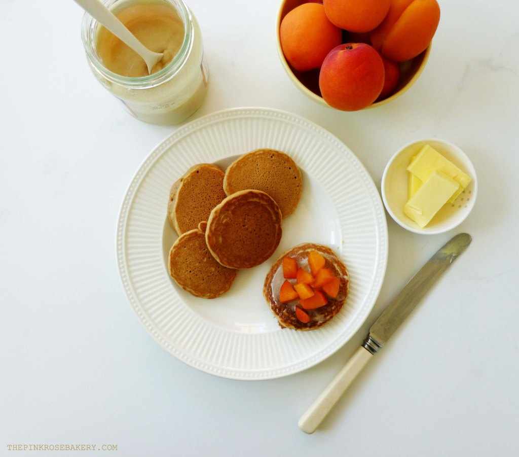 Buckwheat Drop Scones with Apricots & Honey 1 - The Pink Rose Bakery