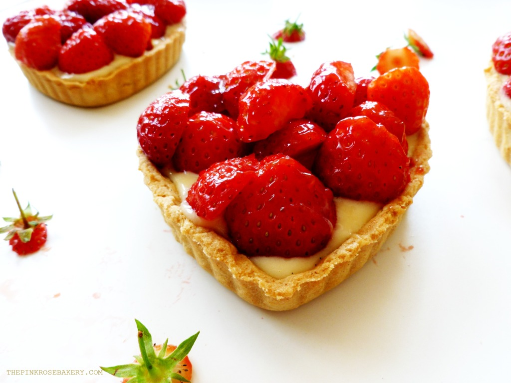 Strawberry Tarts 5 - The Pink Rose Bakery