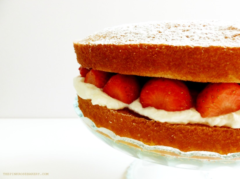 Strawberry Victoria Sponge 3 - The Pink Rose Bakery