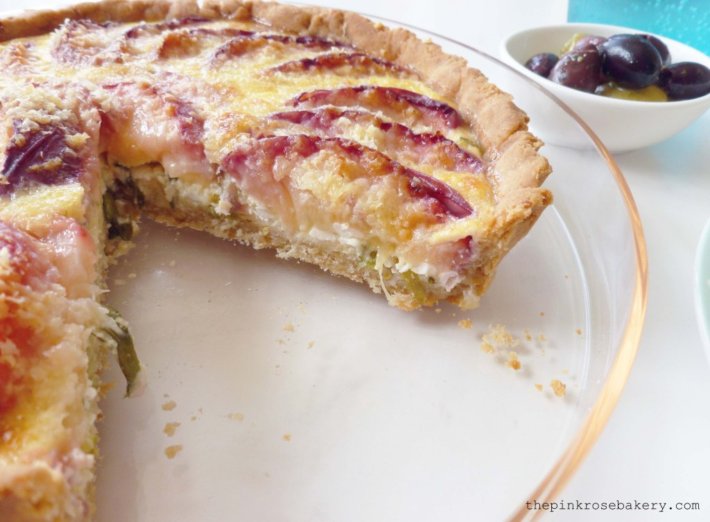 peach, cheese & basil tart 2 - The Pink Rose Bakery