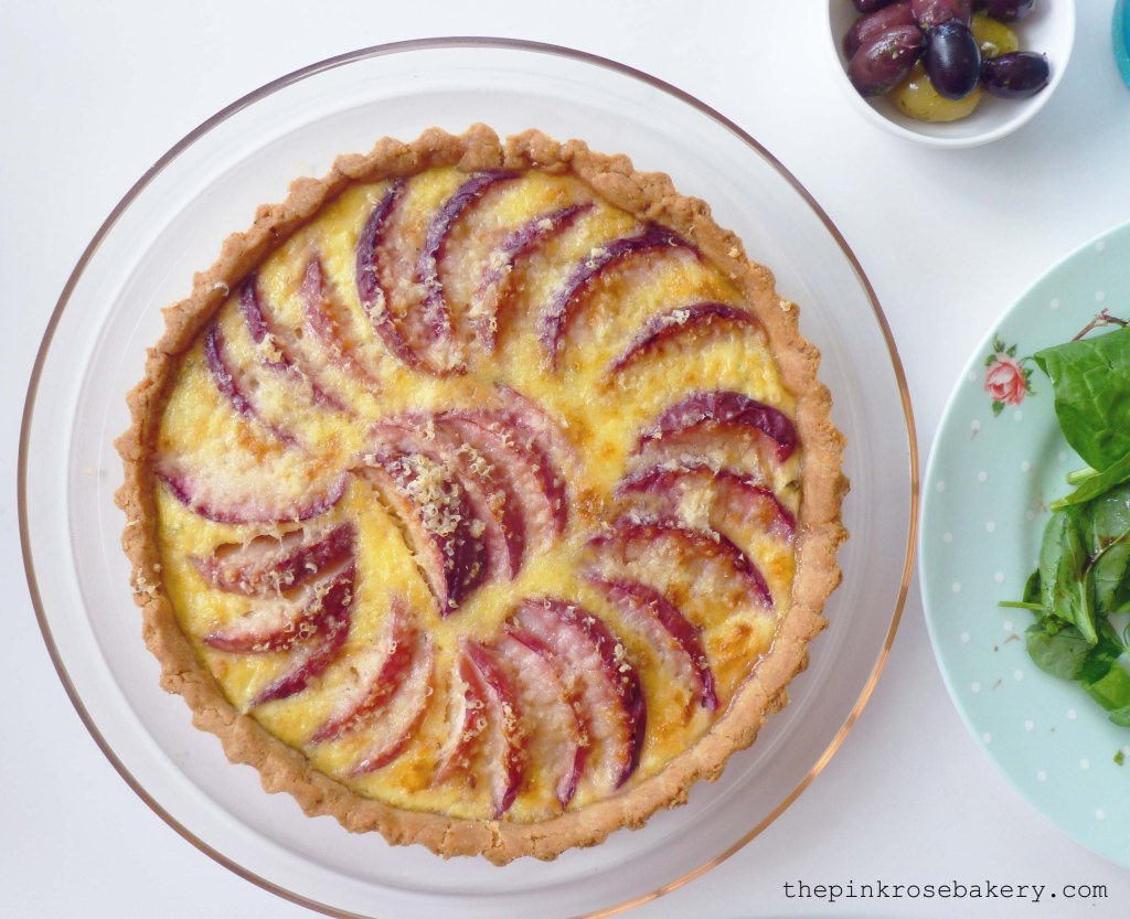 peach, cheese & basil tart 3 - The Pink Rose Bakery