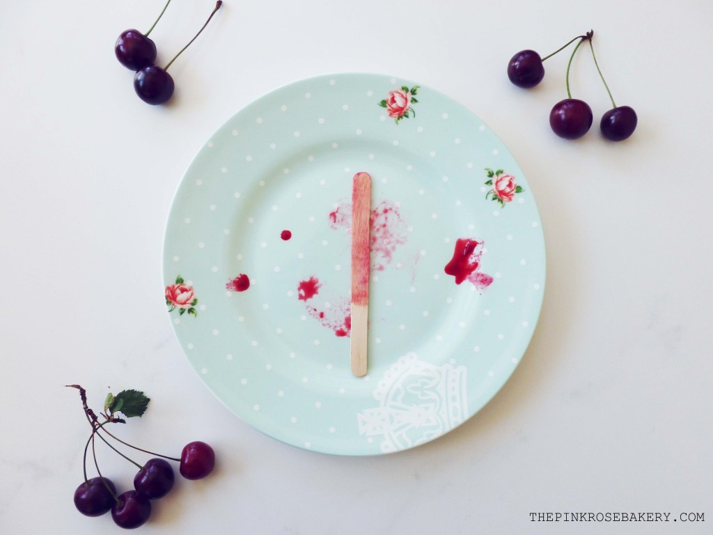 Sour Cherry Fro-Yo Ice Lollies 3 -The Pink Rose Bakery