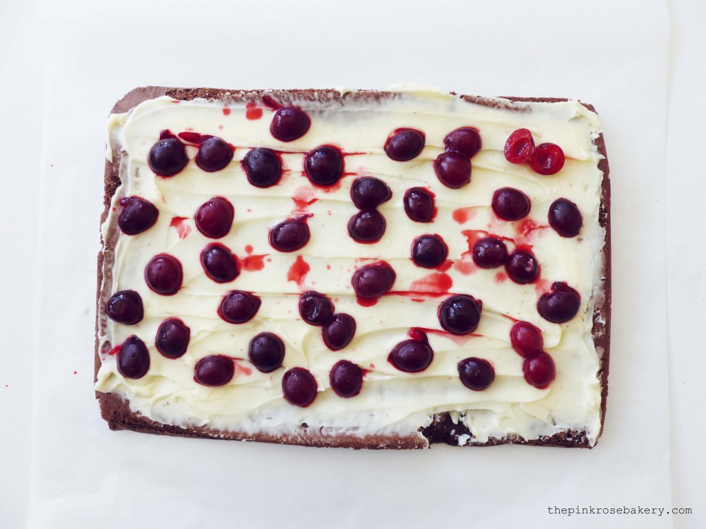 Chocolate Cherry Roulade 2 - The Pink Rose Bakery