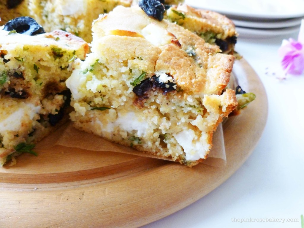 Feta, Olive & Coriander Corn Bread 2 - The Pink Rose Bakery