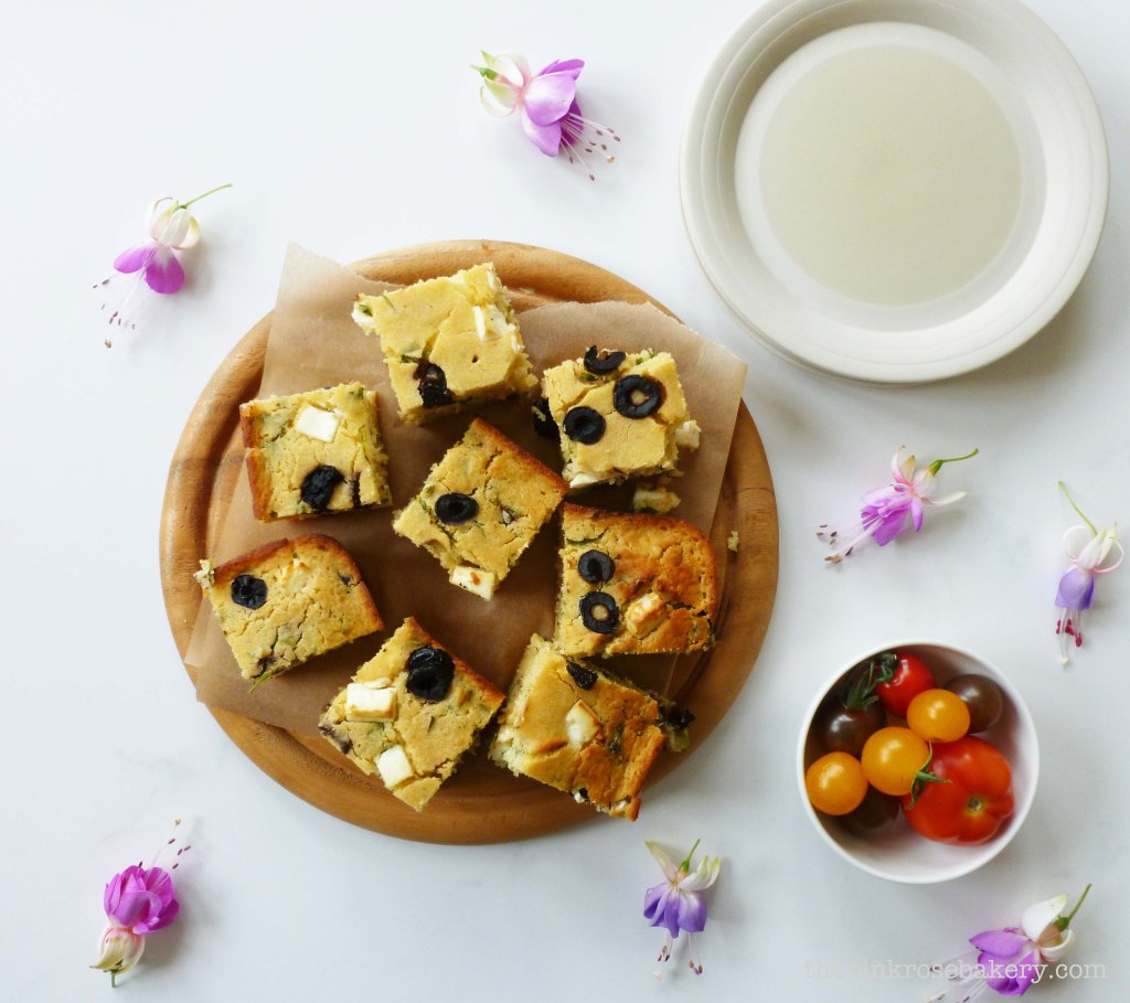 Feta, Olive & Coriander Corn Bread 3 - The Pink Rose Bakery