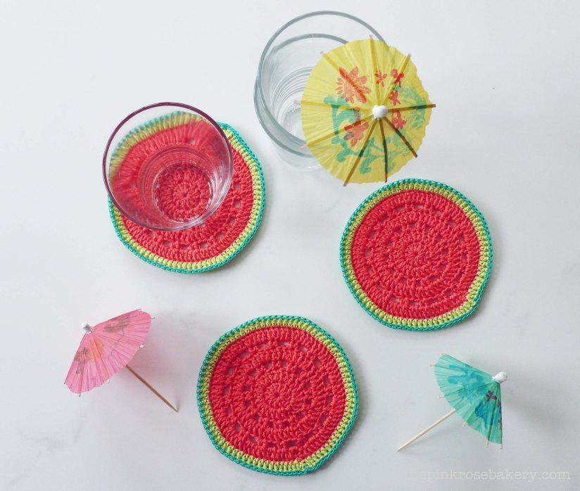 watermelon coasters 3 - the pink rose bakery