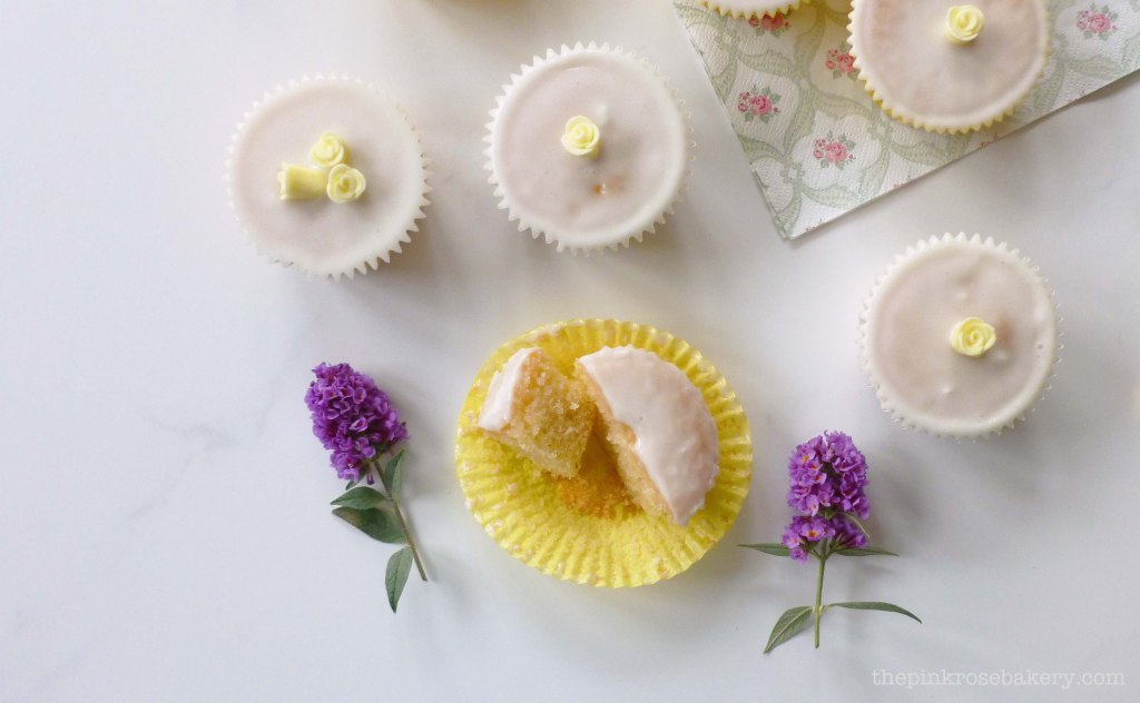 lemon cupcakes 1 - the pink rose bakery