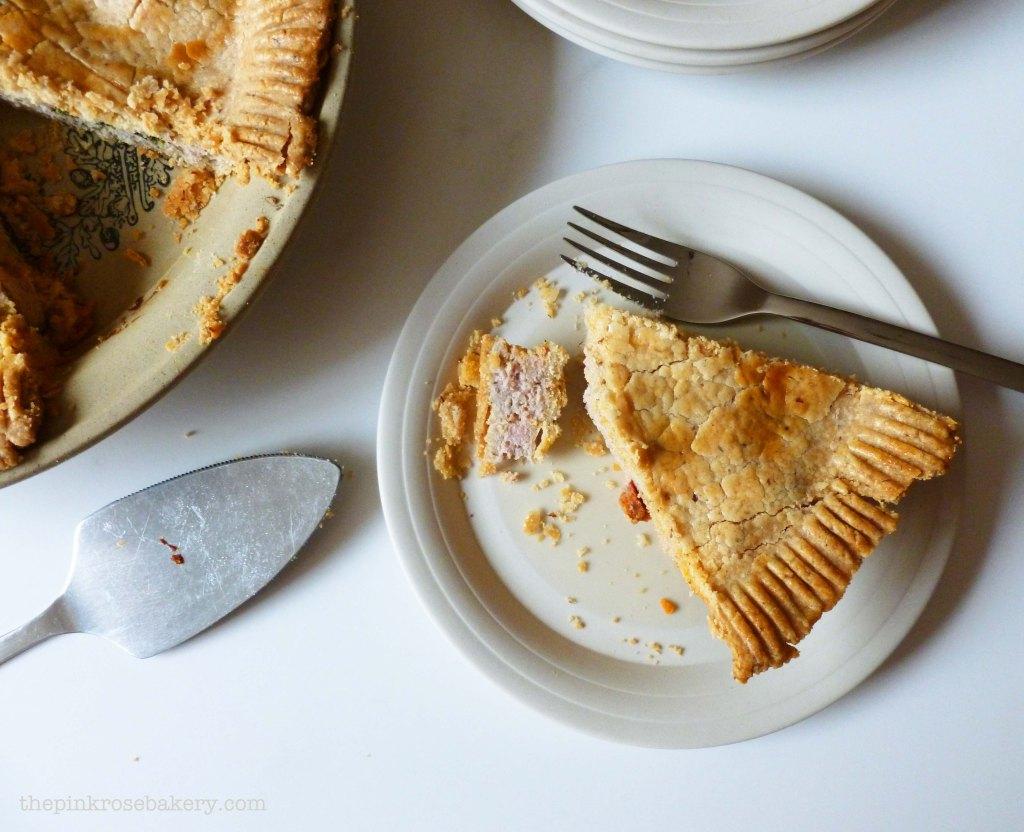 pork, spinach & chorizo pie 3 - the pink rose bakery