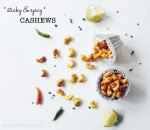 Sticky Spicy Cashews