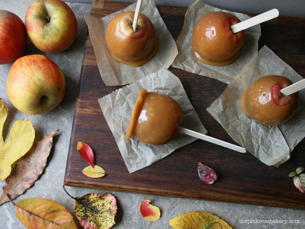 caramel apples 2 - the pink rose bakery