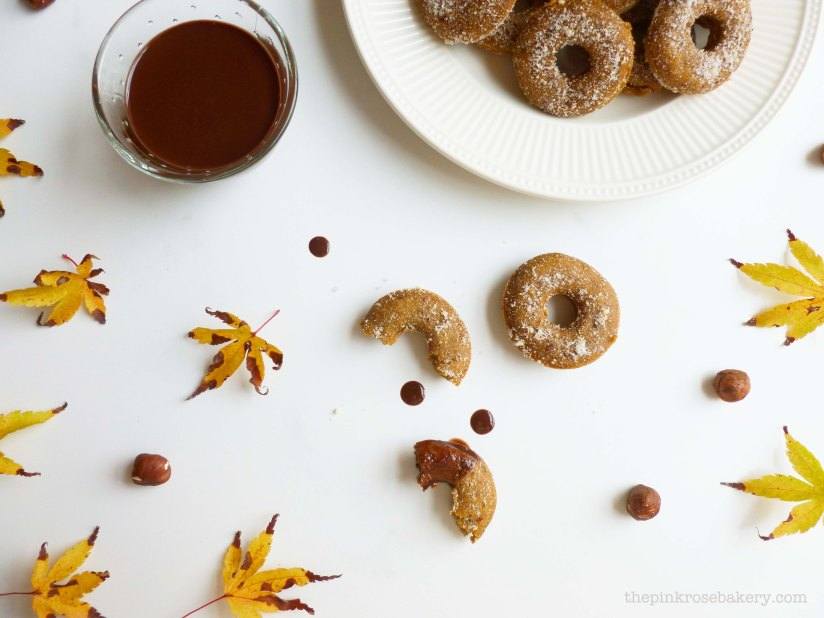 pumpkin & hazelnut mini doughnuts 1 - the pink rose bakery