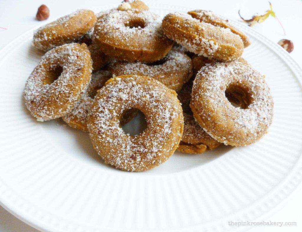 pumpkin & hazelnut mini doughnuts 3 - the pink rose bakery