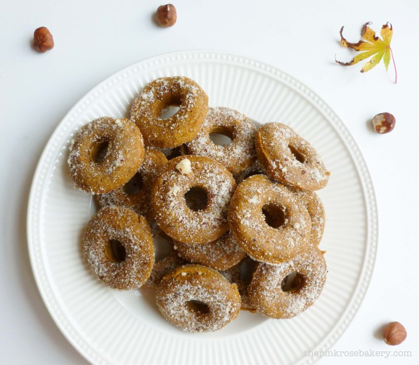 pumpkin & hazelnut mini doughnuts 4 - the pink rose bakery