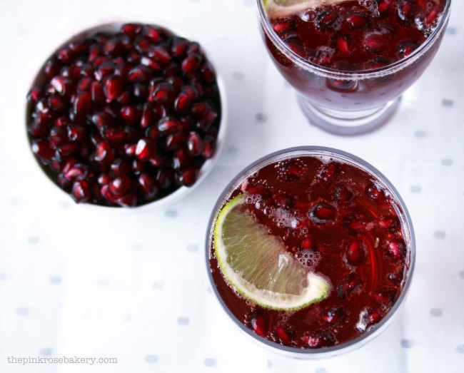 Pomegranate Ginger Fizz