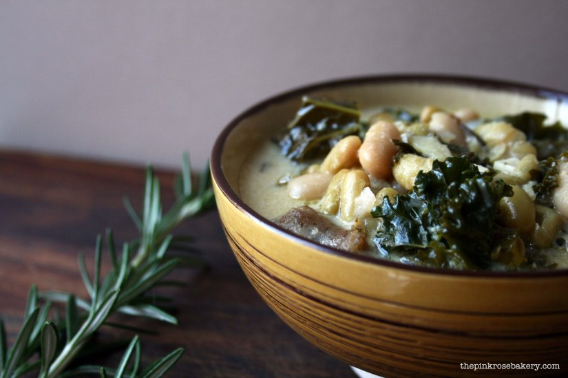 sausage, kale & bean soup 2 - the pink rose bakery