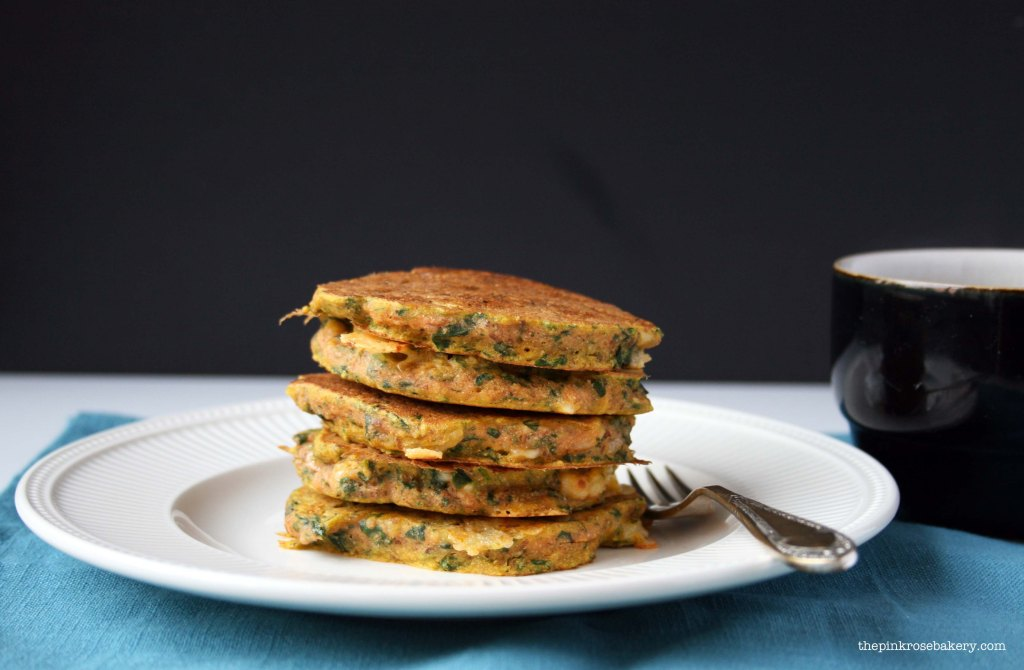 Carrot, Spinach & Cheese Buckwheat Pancakes 2 | The Pink Rose Bakery