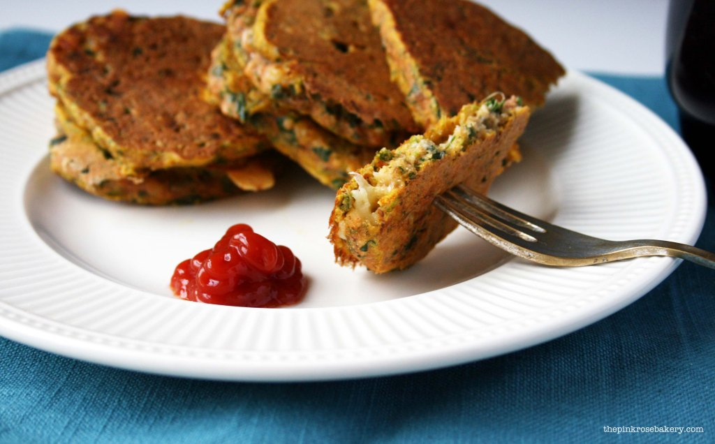 Carrot, Spinach & Cheese Buckwheat Pancakes 4 | The Pink Rose Bakery