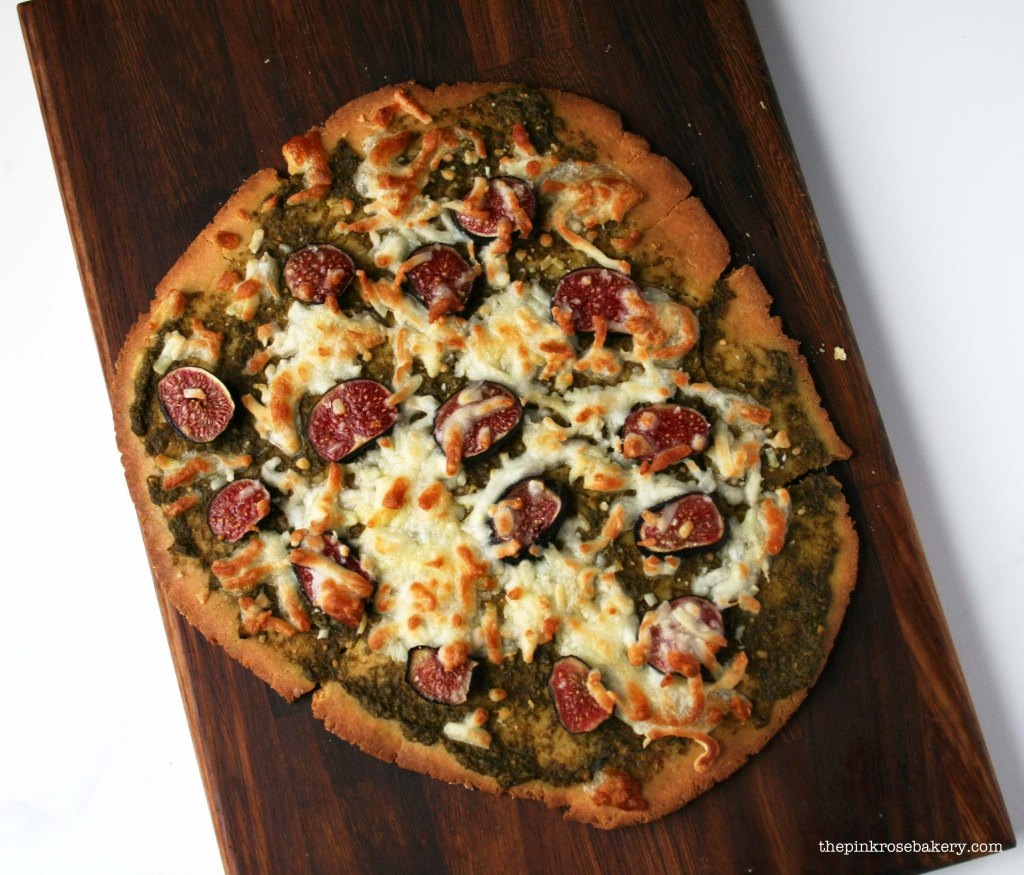 Pesto, Fig & Mozarella Pizza 1 | The Pink Rose Bakery