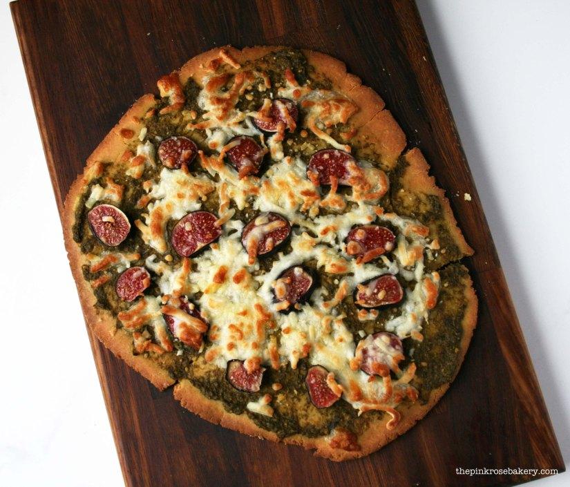 Pesto, Fig & Mozarella Pizza 1 | The Pink Rose Bakery