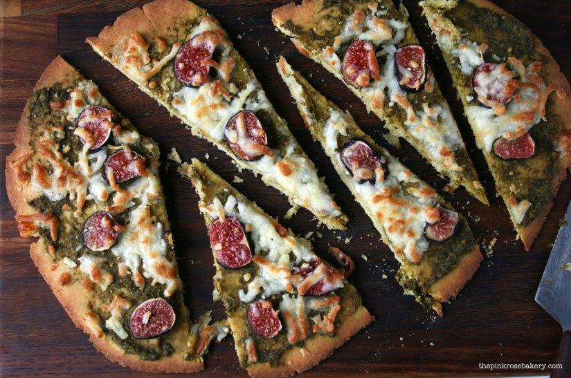 Pesto, Fig & Mozarella Pizza 2 | The Pink Rose Bakery
