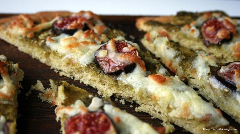 Pesto, Fig & Mozarella Pizza 3 | The Pink Rose Bakery