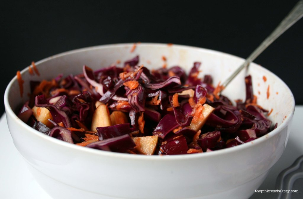 Red Cabbage Salad 1 | The Pink Rose Bakery