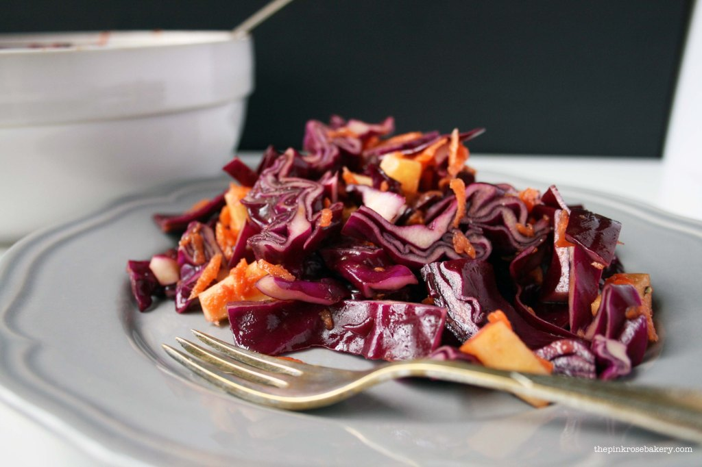 Red Cabbage Salad 3 | The Pink Rose Bakery