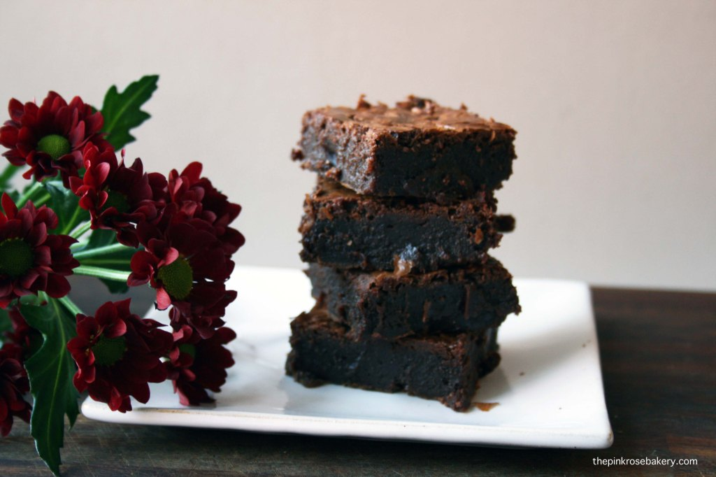 chocolate brownies {gluten free} 1 | the pink rose bakery