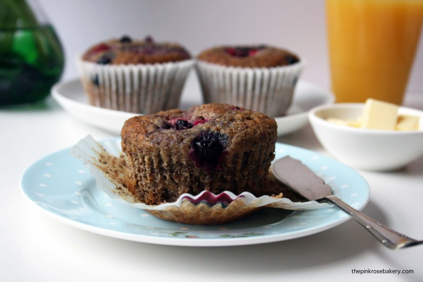 flaxmeal breakfast muffins 2 {gluten free} | the pink rose bakery