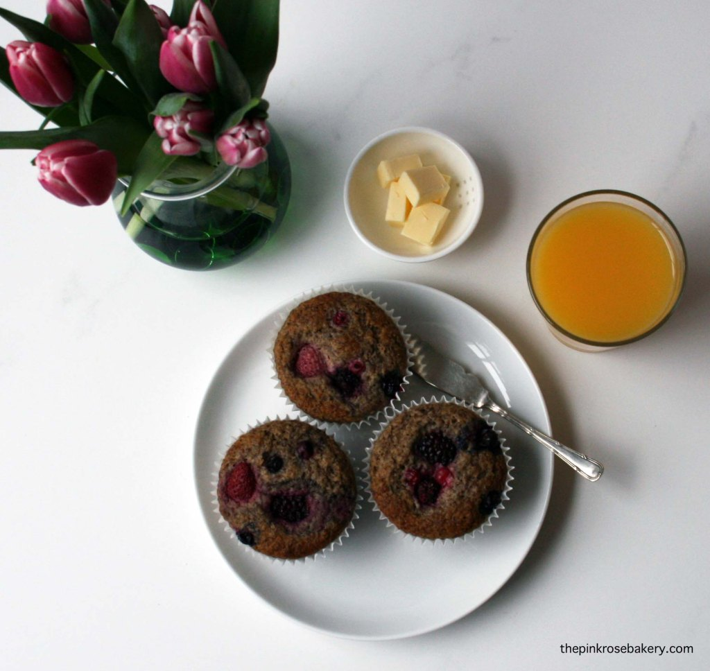 flaxmeal breakfast muffins 3 {gluten free} | the pink rose bakery